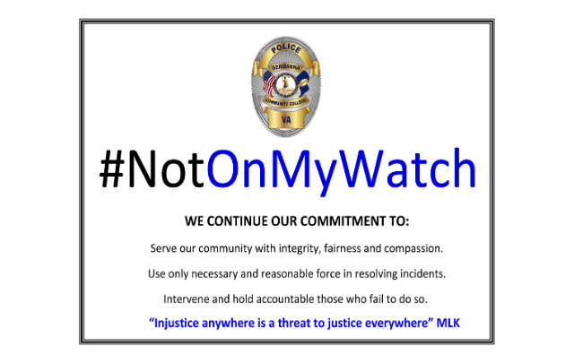 Not on My Watch Pledge Promises Policing with Integrity and Fairness