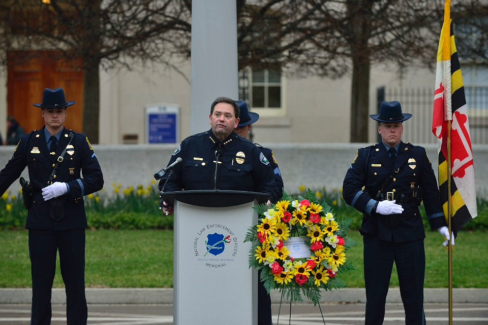 "IACLEA President Randy Burba remembers the fallen campus police officers. He said ""Every day campus safety officers get up, put on a uniform and go to work to protect the men and women who are part of their community. And they know that someday they may have to pay that ultimate sacrifice."""