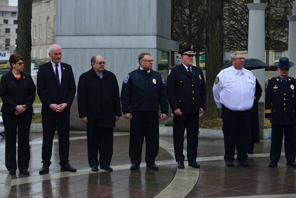IACLEA Board of Directors members pay tribute to the 43 fallen campus law enforcement officers.