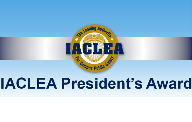 President's Award Highlights Exceptional Service to IACLEA